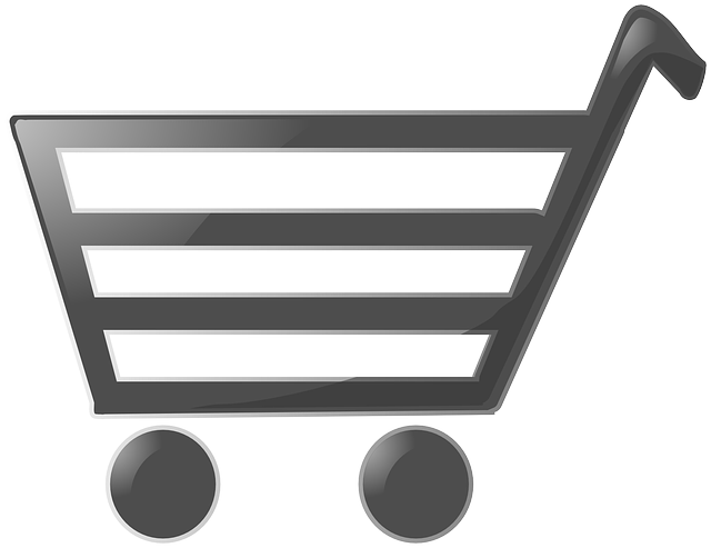 Image of a cart icon used to identify a customer's shopping cart.